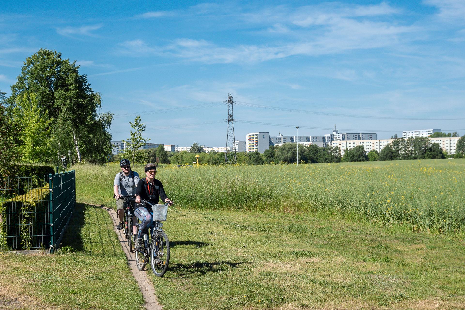 Radfahrer Stadtkante Fotogr L Weigelt